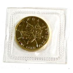 1982 Canada $5 1/10oz 9999 Fine Gold Maple Leaf in Original sealed pouch (Tax Exempt).