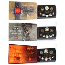 2002 Queen's Jubilee, 2003 Discovery of Cobalt & 2004 French Settlement Double Dollar Proof Sets (sl
