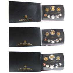 2005, 2006 & 2007 Canada Double Dollar Proof Sets (sleeves lightly bent & some coins are toned). 3pc