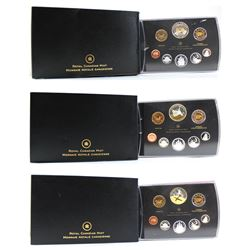 2009, 2010 & 2011 Canada Double Dollar Proof Sets (sleeves are showing some wear & some coins are to