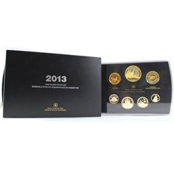 2013 Canada Arctic Expedition Fine Silver Double Dollar Proof Set (coins have yellow toning & sleeve