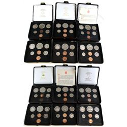 1971-1977 Canada Specimen Double Penny Sets - 2x 1971, 1973, 2x 1974, 4x 1975, 1976 & 2x 1977 (some