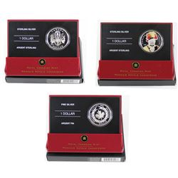 2006 & 2007 Canada Special Edition Proof Silver Dollars - 2006 Medal of Bravery Fine Silver, 2007 Th