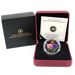 2013 Canada $20 Purple Coneflower & Eastern Tailed Blue Butterfly Venetian Glass Fine Silver Coin (T