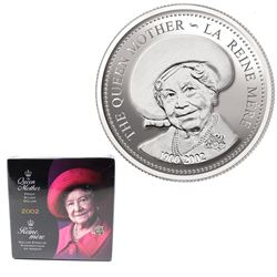 2002 Canada Queen Mother Proof Sterling Silver Dollar in Original Plastic Seal from the Mint.