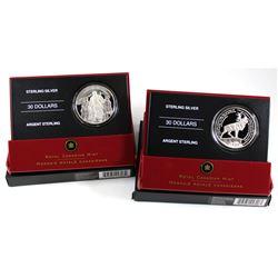 2006 Canada $30 National War Memorial & 2006 $30 Beaumont-Hamel Newfoundland Memorial Sterling Silve