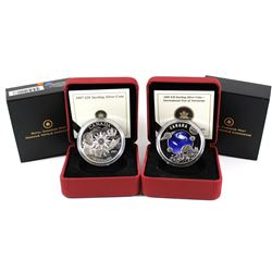 2007 Canada $20 International Polar Year & 2009 $30 International Year of Astronomy Sterling Silver