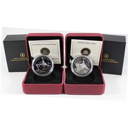 2010 Canada Brilliant Uncirculated & Proof Canada Navy Sterling Silver Dollars. 2pcs