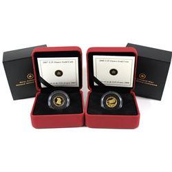 2007 The Wolf & 2008 de Havilland Beaver Canada 50-cent 1/25oz Pure Gold Coins. 2pcs (TAX Exempt)