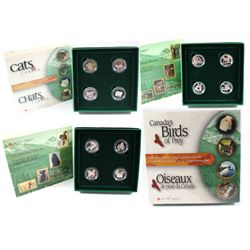 1996-2000 Canada Discovering Nature 50-cent Sterling Silver 4-coin Sets. You will receive 1996 Littl