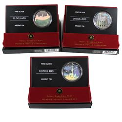 2006 Canada $20 Architectural Treasures Fine Silver Coins - Notre-Dame Basilica, Pengrowth Saddledom