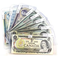 1954-1986 Bank of Canada Replacement Note Collection. You will receive the following, 2x 1954 $1 Not