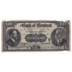 1914 $10 505-54-08, Bank of Montreal (impaired).
