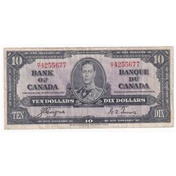 1937 $10 BC-24c, Bank of Canada, Coyne-Towers, H/T, VF (tear).