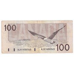 1988 $100 BC-60aA, Bank of Canada, AJX Prefix, HBPN, Circ.