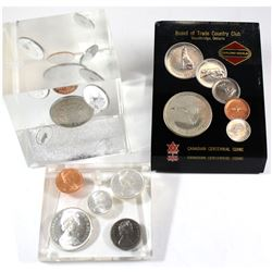 1967 & 1971 Canada Mint sets in Acrylic Display. Lot includes 1x 1967 Acrylic display containing the