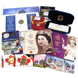 Estate lot of Canada Commemorative coins: 1996 Canada Uncirculated $2 & Banknote Set, 1998 Replica o