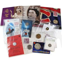 Estate lot of Canadian Commemorative coins: 1992 Parliament Loon, 1197 Canada VS Russia Sterling Sil