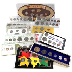 Estate lot of Canada 6-coin Year Sets: 1944 4-coin Year Set (missing Dollar), 1965, 1967 Canada Wild