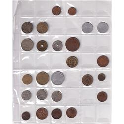 Estate lot of Coins from Around the World, You will receive coins from Spain, Canada, Columbia, Nica