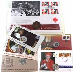 1977-2015 Canada Queen Elizabeth II/Royal Coin and Stamp Collection. You will receive a 1977 Silver