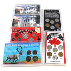 Estate lot of Canada Commemorative sets: 2x 20th Century Canadian Nickel 6-coin set, 2x Dimes of the