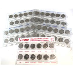 5x 1999 Millennium Small Sleeve with all 12 Commemorative coins. 5 sets