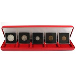 1942 Canada Year Set Encapsulated with display box. Set includes: 1942 Silver 50-cent, 1942 Silver 2