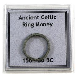 150-50 BC Ancient Celtic ring money.
