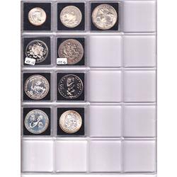 * Estate lot of Cook Islands, Barbados, Bahama Island & Bermuda Silver coins: 1966 Bahama Islands 50