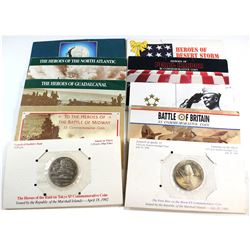 *1989-1993 Republic of the Marshall Island Eye Witness to History $5 Commemorative coins. Collection