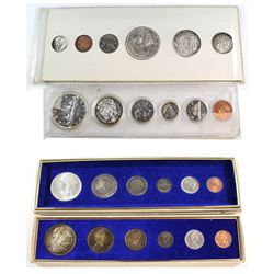 Estate lot of Canada Year Sets. Lot includes: 1958 Uncirculated Year Set, 1962 Proof-like set, 1962