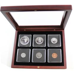 1967 Canada commemorative silver Year Set encapsulated with Mahongy 6-coin display box.