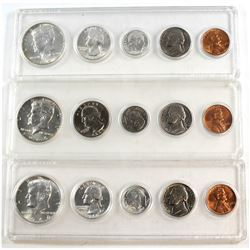 1964 & 1966 United States Silver Year Sets. You will receive 2x 1964 set & 1x 1966.