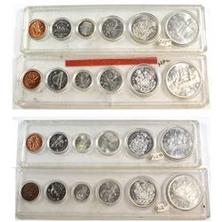 1960, 1962, 1965 & 1966 Canada Silver Year Set in hard plastic holders (coins are toned and the hard