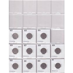 Estate lot of 1922-2014 Canada Nickel Collection with Binder. You will receive 107 coin dated betwee