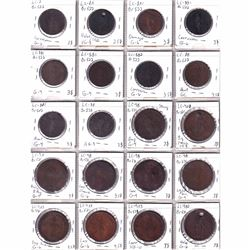 20x 1837 One Penny & Half Penny Bank tokens (coins contain various imperfections). 20pcs