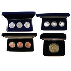 "1997 City of Scarborough ""Home Above the Bluffs"" Chamber of Commerce 3-coin Medallion Sets in .999 F"