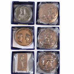 5x Monnie De Paris Commemorative Medallions: France, Bronze Medal, Porte-Avions, La Fayette,1889 Bro