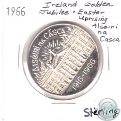 1966 Ireland's golden Jubilee Easter Uprising Sterling Silver Medallion. Diameter 39 mm