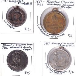 1902-1937 Royal Jubilee Medallion Collection. You will receive a 1902 Edward & Alexandra Medal, 1927