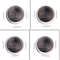 *RARE* 4x 2011 RCM Issued tokens with loon depicted. 4pcs