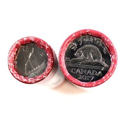 2017 Canada Classic Bluenose 10-cent & Beaver 5-cent Special Wrapped Rolls. 2 rolls. Only sold throu