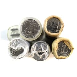 1969, 1970, 1981, 1998 & 2001 Canada 10-cent Mint State Rolls.