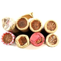 *1963, 1964, 1965, 1966, 1967, 1968, 1971 & 1979 Canada 1-cent Mint State Rolls of 50pcs. 8pcs