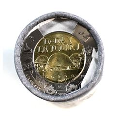 2019 Canada $2 Non-Coloured D-Day Special Wrap Roll
