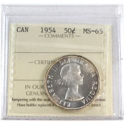 1954 Canada 50-cent ICCS Certified MS-65.