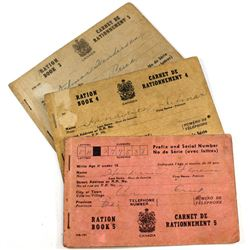 WWII Canada Ration Book Collection. You will receive Ration book 3 (120 Stamps remaining), 4 (90 Sta