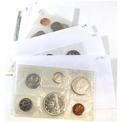 Estate Lot of 1961-1988 Canada Proof Like Sets. You will receive 1961, 1963, 1968, 1969, 1972, 1978,