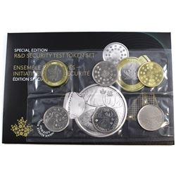 2018 ERROR DIE CRACK SET Canada R&D Security Test Token Set issued by the Royal Canadian Mint